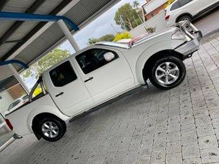 2012 Nissan Navara ST White Manual Dual Cab Utility