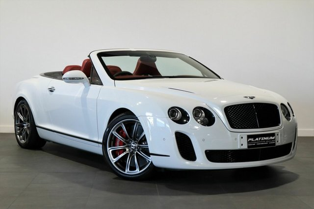 Used Bentley Continental 3W MY11 Supersports Bayswater, 2011 Bentley Continental 3W MY11 Supersports White 6 Speed Sports Automatic Convertible