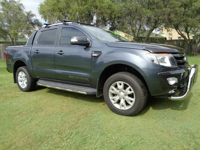 Used Ford Ranger PX MkII Wildtrak Double Cab Kippa-Ring, 2015 Ford Ranger PX MkII Wildtrak Double Cab Silver 6 Speed Sports Automatic Utility