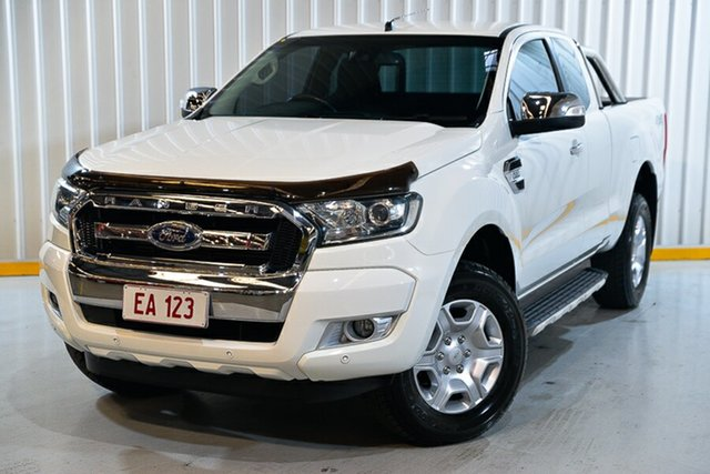 Used Ford Ranger PX MkII XLT Super Cab Hendra, 2016 Ford Ranger PX MkII XLT Super Cab White 6 Speed Manual Utility