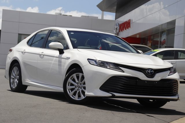 Pre-Owned Toyota Camry AXVH71R Ascent Woolloongabba, 2019 Toyota Camry AXVH71R Ascent White 6 Speed Constant Variable Sedan Hybrid