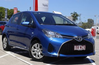 2016 Toyota Yaris NCP130R Ascent Tidal Blue 4 Speed Automatic Hatchback.