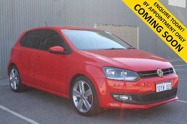 Used Volkswagen Polo 6R MY13 77 TSI Comfortline Bentley, 2012 Volkswagen Polo 6R MY13 77 TSI Comfortline Red 6 Speed Manual Hatchback