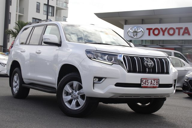Pre-Owned Toyota Landcruiser Prado GDJ150R GXL Upper Mount Gravatt, 2019 Toyota Landcruiser Prado GDJ150R GXL White 6 Speed Sports Automatic Wagon