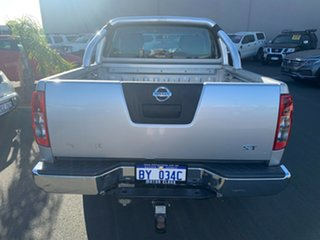 2012 Nissan Navara D40 S6 MY12 ST Silver 6 Speed Manual Utility.