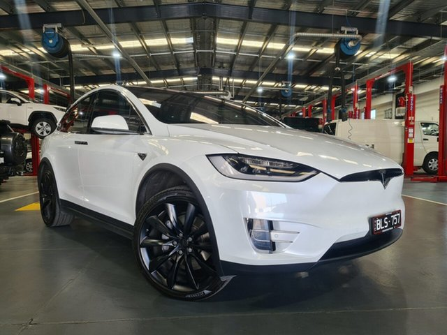 Pre-Owned Tesla Model X 100D AWD Oakleigh, 2017 Tesla Model X 100D AWD White 1 Speed Reduction Gear Wagon
