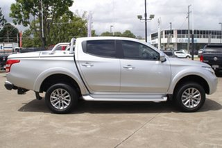 2018 Mitsubishi Triton MQ MY18 GLS Double Cab Silver 5 Speed Sports Automatic Utility.
