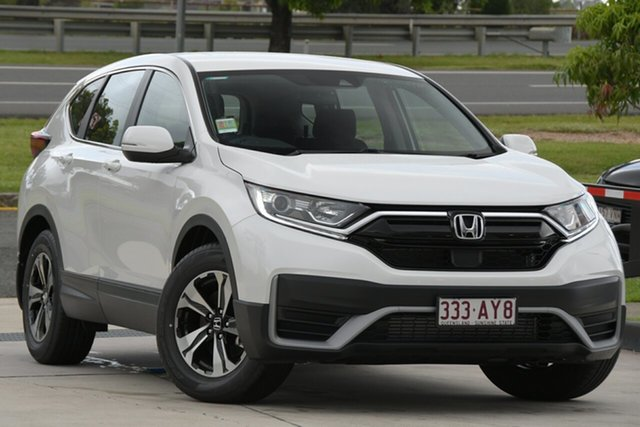 Demo Honda CR-V RW MY21 VTi FWD 7 North Lakes, 2020 Honda CR-V RW MY21 VTi FWD 7 Platinum White 1 Speed Constant Variable Wagon