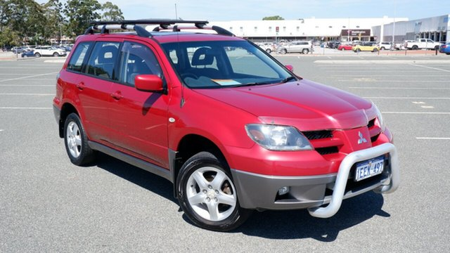 Used Mitsubishi Outlander ZG MY07 XLS Maddington, 2007 Mitsubishi Outlander ZG MY07 XLS Red 6 Speed Constant Variable Wagon