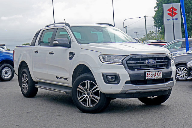 Used Ford Ranger PX MkIII 2020.75MY Wildtrak Ebbw Vale, 2020 Ford Ranger PX MkIII 2020.75MY Wildtrak Arctic White 10 Speed Sports Automatic