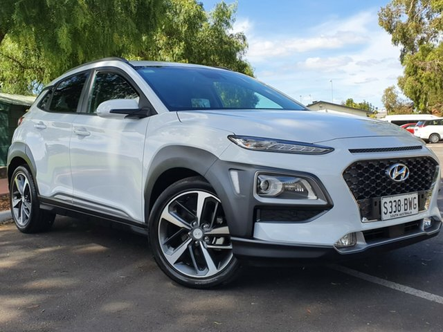 Used Hyundai Kona OS MY18 Highlander 2WD Nailsworth, 2017 Hyundai Kona OS MY18 Highlander 2WD White 6 Speed Sports Automatic Wagon