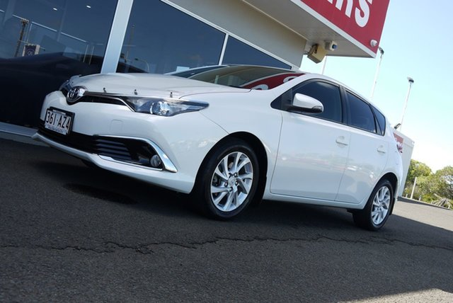 Used Toyota Corolla ZRE182R Ascent Sport S-CVT Bundaberg, 2016 Toyota Corolla ZRE182R Ascent Sport S-CVT White 7 Speed Constant Variable Hatchback