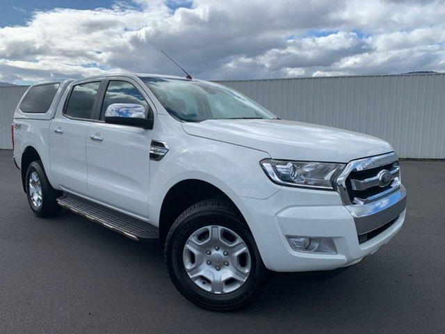 Used Ford Ranger PX MkII XLT Double Cab Moonah, 2016 Ford Ranger PX MkII XLT Double Cab White 6 Speed Sports Automatic Utility