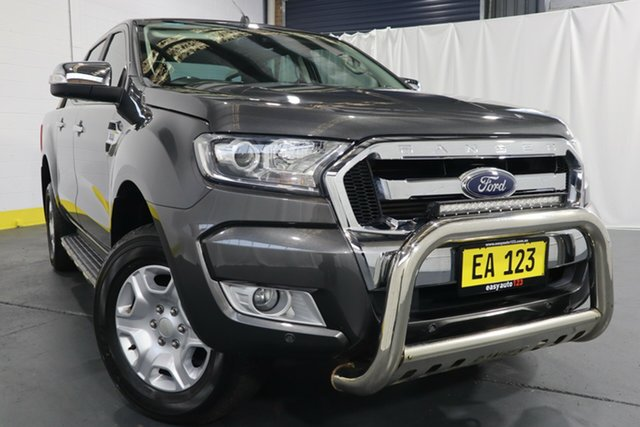 Used Ford Ranger PX MkII XLT Double Cab Castle Hill, 2017 Ford Ranger PX MkII XLT Double Cab Grey 6 Speed Sports Automatic Utility