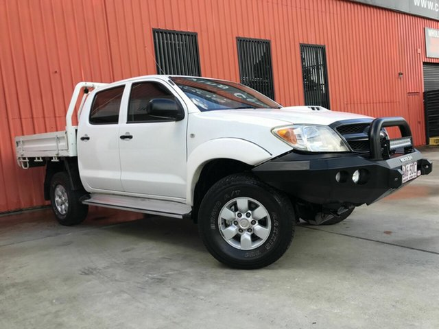 Used Toyota Hilux KUN26R MY07 SR Molendinar, 2007 Toyota Hilux KUN26R MY07 SR White 5 Speed Manual Cab Chassis