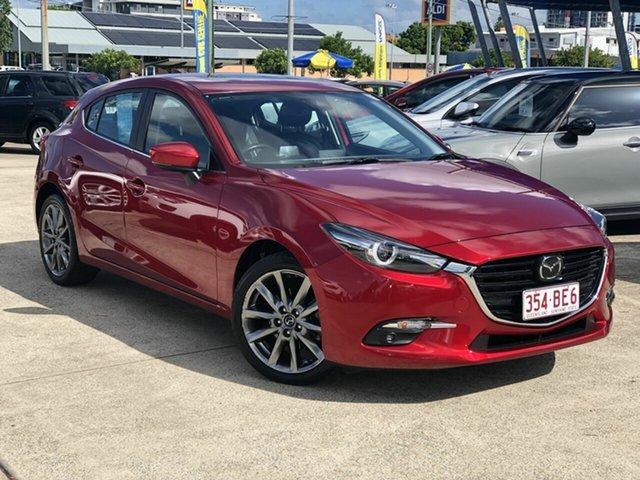 Used Mazda 3 BN5438 SP25 SKYACTIV-Drive Astina Chermside, 2017 Mazda 3 BN5438 SP25 SKYACTIV-Drive Astina Red 6 Speed Sports Automatic Hatchback