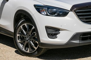 2016 Mazda CX-5 KE1032 Grand Touring SKYACTIV-Drive AWD Crystal White Pearl 6 Speed Sports Automatic.