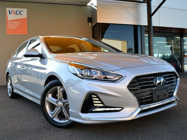 Used Hyundai Sonata LF4 MY18 Active Fawkner, 2018 Hyundai Sonata LF4 MY18 Active Silver 6 Speed Sports Automatic Sedan