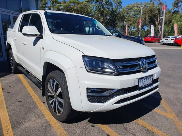 Used Volkswagen Amarok 2H MY17 TDI550 4MOTION Perm Ultimate Epsom, 2017 Volkswagen Amarok 2H MY17 TDI550 4MOTION Perm Ultimate White 8 Speed Automatic Utility