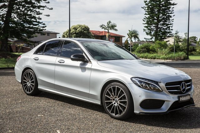 Used Mercedes-Benz C-Class W205 808MY C200 9G-Tronic Port Macquarie, 2017 Mercedes-Benz C-Class W205 808MY C200 9G-Tronic Iridium Silver 9 Speed Sports Automatic Sedan
