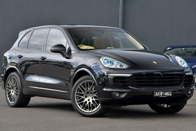 Used Porsche Cayenne 92A MY17 Diesel Tiptronic Platinum Edition Moorabbin, 2016 Porsche Cayenne 92A MY17 Diesel Tiptronic Platinum Edition Black 8 Speed Sports Automatic Wagon