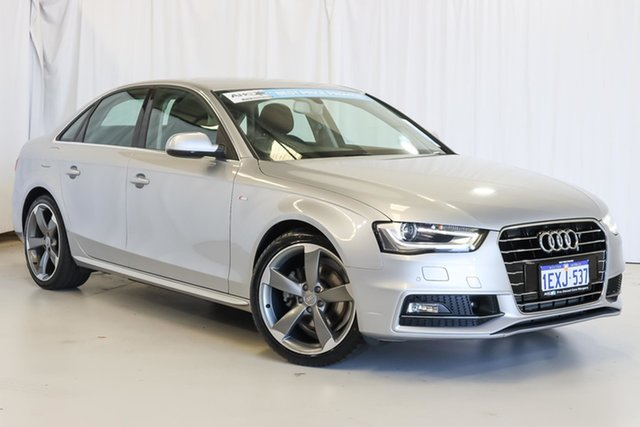 Used Audi A4 B8 8K MY15 S Line Multitronic Wangara, 2015 Audi A4 B8 8K MY15 S Line Multitronic Silver 8 Speed Constant Variable Sedan