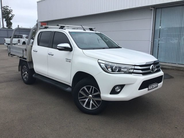 Pre-Owned Toyota Hilux GUN126R SR5 Double Cab Cardiff, 2016 Toyota Hilux GUN126R SR5 Double Cab White 6 Speed Manual Utility