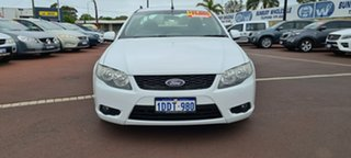 2009 Ford Falcon FG Super Cab White 5 Speed Sports Automatic Cab Chassis.