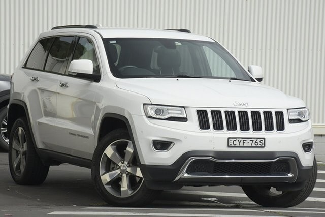 Used Jeep Grand Cherokee WK MY15 Limited Wollongong, 2014 Jeep Grand Cherokee WK MY15 Limited White 8 Speed Sports Automatic Wagon