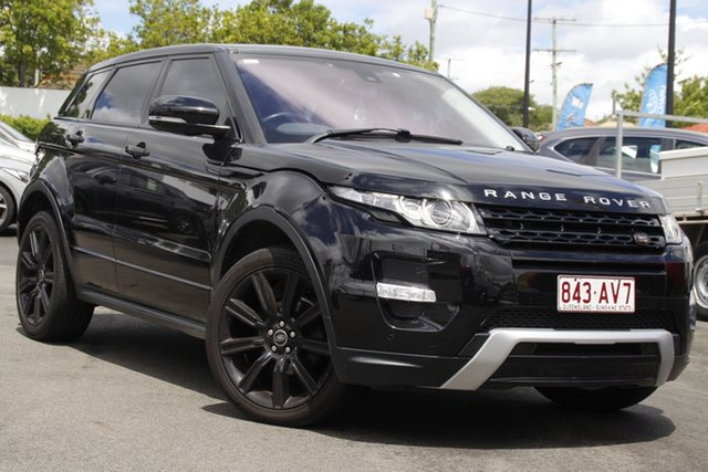 Used Land Rover Range Rover Evoque L538 MY12 SD4 CommandShift Dynamic Mount Gravatt, 2012 Land Rover Range Rover Evoque L538 MY12 SD4 CommandShift Dynamic Black 6 Speed Sports Automatic