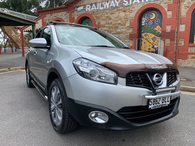 Used Nissan Dualis J10 Series II MY2010 Ti X-tronic AWD Cheltenham, 2011 Nissan Dualis J10 Series II MY2010 Ti X-tronic AWD Silver 6 Speed Constant Variable Hatchback