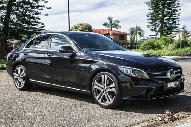 Used Mercedes-Benz C-Class W205 809MY C300 9G-Tronic Port Macquarie, 2018 Mercedes-Benz C-Class W205 809MY C300 9G-Tronic Black 9 Speed Sports Automatic Sedan