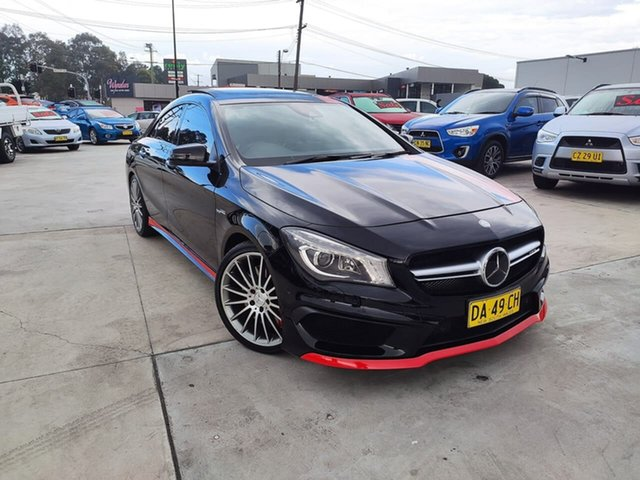 Used Mercedes-Benz CLA-Class C117 806MY CLA45 AMG SPEEDSHIFT DCT 4MATIC Liverpool, 2015 Mercedes-Benz CLA-Class C117 806MY CLA45 AMG SPEEDSHIFT DCT 4MATIC Black 7 Speed