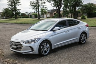 2016 Hyundai Elantra AD MY17 Elite Platinum Silver 6 Speed Sports Automatic Sedan.