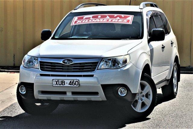 Used Subaru Forester S3 MY10 X AWD Cheltenham, 2010 Subaru Forester S3 MY10 X AWD Pearl White 4 Speed Sports Automatic Wagon