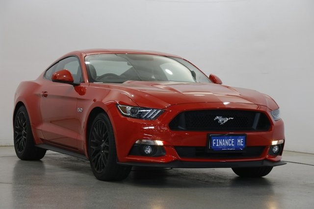 Used Ford Mustang FM 2017MY GT Fastback Victoria Park, 2017 Ford Mustang FM 2017MY GT Fastback Red 6 Speed Manual Fastback