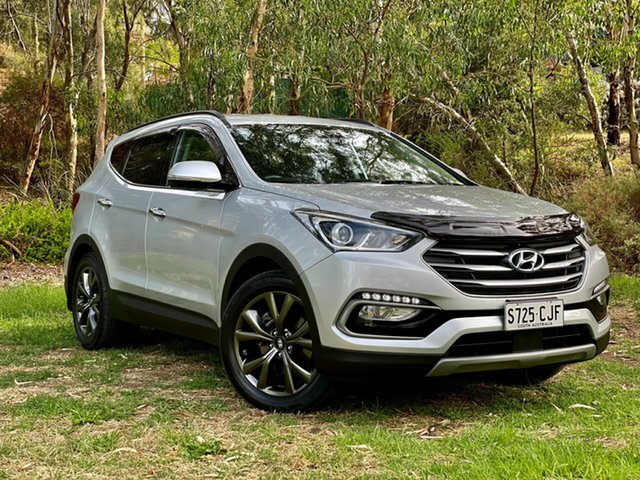 Used Hyundai Santa Fe DM5 MY18 Active X 2WD Reynella, 2017 Hyundai Santa Fe DM5 MY18 Active X 2WD Platnium Silver/blac 6 Speed Sports Automatic Wagon