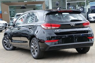 2020 Hyundai i30 PD.V4 MY21 Elite Phantom Black 6 Speed Automatic Hatchback