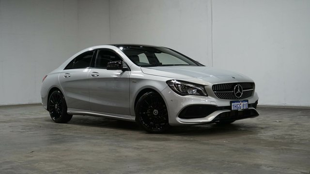Used Mercedes-Benz CLA-Class C117 809MY CLA200 DCT Welshpool, 2019 Mercedes-Benz CLA-Class C117 809MY CLA200 DCT Polar Silver 7 Speed Sports Automatic Dual Clutch