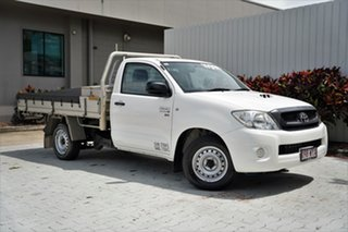 2011 Toyota Hilux KUN16R MY10 SR 4x2 White 5 Speed Manual Cab Chassis.