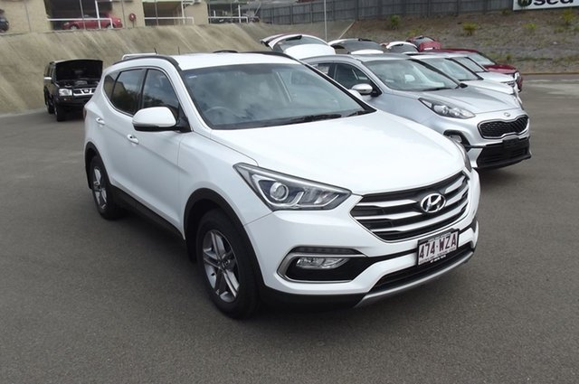 Used Hyundai Santa Fe DM3 MY16 Active South Gladstone, 2016 Hyundai Santa Fe DM3 MY16 Active White 6 Speed Sports Automatic Wagon