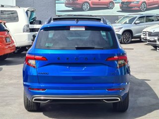 2020 Skoda Karoq NU MY20.5 140TSI DSG AWD Sportline Blue 7 Speed Sports Automatic Dual Clutch Wagon