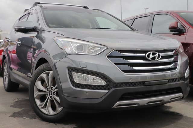 Used Hyundai Santa Fe DM MY14 Highlander Aspley, 2014 Hyundai Santa Fe DM MY14 Highlander Grey 6 Speed Sports Automatic Wagon