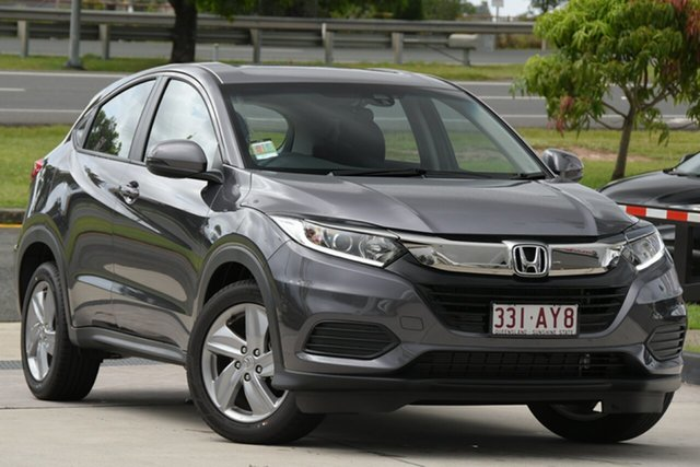 Demo Honda HR-V MY21 VTi North Lakes, 2020 Honda HR-V MY21 VTi Modern Steel 1 Speed Constant Variable Hatchback