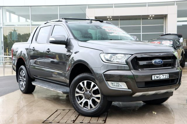 Used Ford Ranger PX MkII 2018.00MY Wildtrak Double Cab Liverpool, 2017 Ford Ranger PX MkII 2018.00MY Wildtrak Double Cab Grey 6 Speed Sports Automatic Utility
