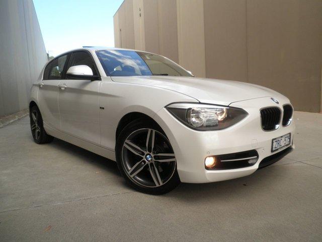 Used BMW 118i F20 118i Cheltenham, 2013 BMW 118i F20 118i Pearlescent White 8 Speed Sports Automatic Hatchback