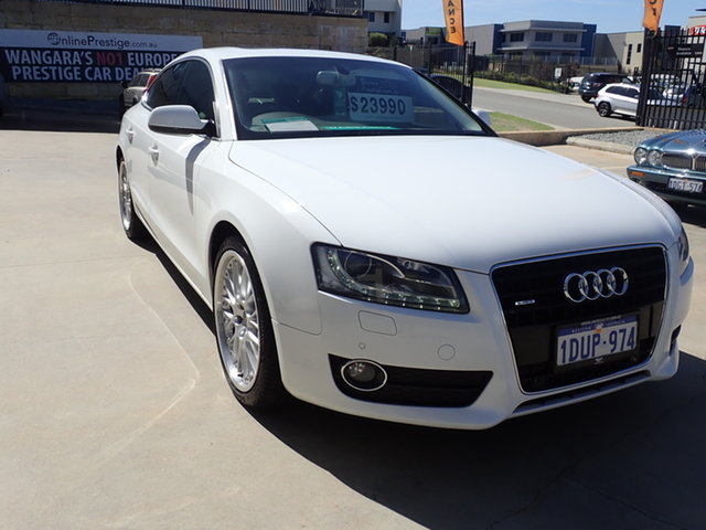 Used Audi A5 8T 3.0 TDI Quattro Wangara, 2010 Audi A5 8T 3.0 TDI Quattro Alpine White 7 Speed Auto Direct Shift Coupe