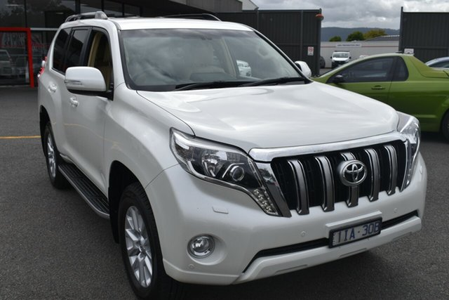 Used Toyota Landcruiser Prado GDJ150R VX Wantirna South, 2016 Toyota Landcruiser Prado GDJ150R VX White 6 Speed Sports Automatic Wagon