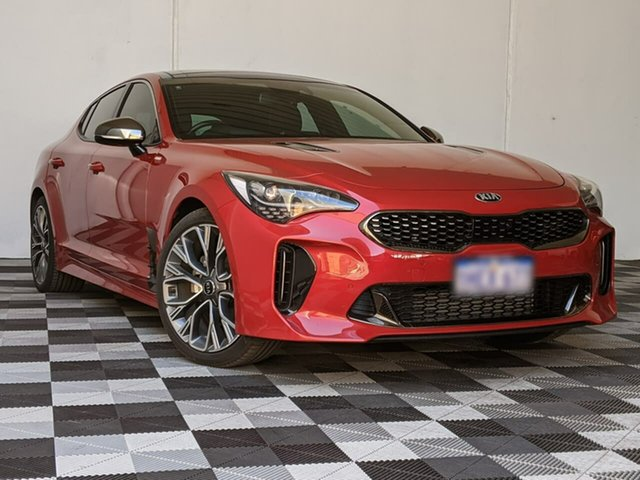 Used Kia Stinger CK MY18 GT-Line Fastback Victoria Park, 2017 Kia Stinger CK MY18 GT-Line Fastback Red 8 Speed Sports Automatic Sedan