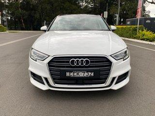 2019 Audi A3 8V MY19 35 TFSI S Tronic S Line Plus White 7 Speed Sports Automatic Dual Clutch Sedan.